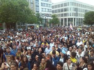صورة ارشيفية لمظاهرات الجالية الايزيدية