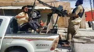 IS terrorists in Shingal