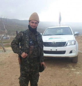 A Yezidi YBS fighter in Bara
