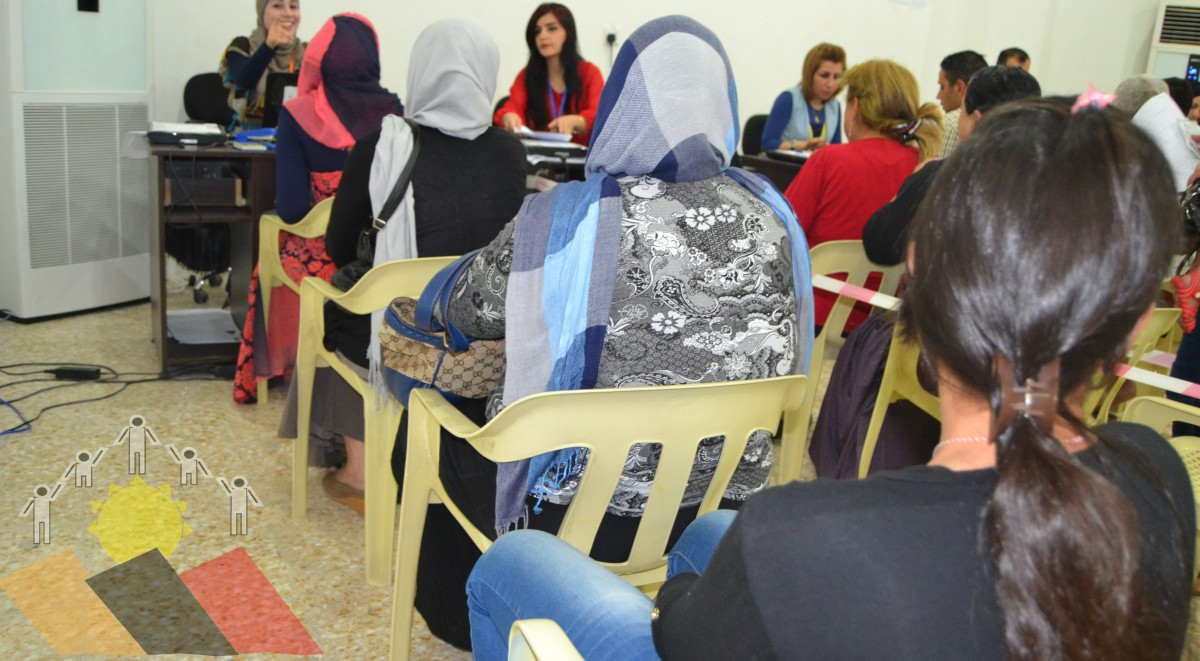 Registration process of the Ezidi women for monthly allowances (Yazda)