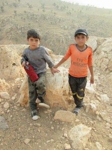 Children who are currently on Mount Sinjar