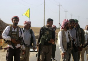 YBS fighters at a YPG checkpoint