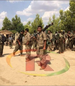 PKK fighters in Sinjar