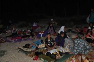 Yezidi refugees from Shingal