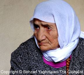 Sabria, the oldest refugee in the world (Copyright: Behzad Yaghmaian)