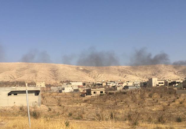 Erste Aufnahme nach der Befreiung der Gemeinde Bashiqa/Bahzan (07. Nov. 2016)