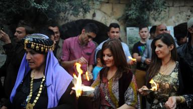 Yezidis celebrate their New Year in Lalish on April 16, 2014 (Idris Okuducu/AA)