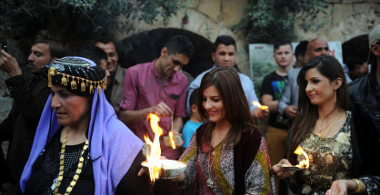 Yezidis celebrate their New Year in Lalish on April 16, 2014 (Idris Okuducu/AA)