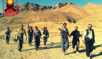 Resistance fighters in Sinjar