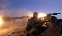 Commando anti tank team live firing in the desert of Oman.