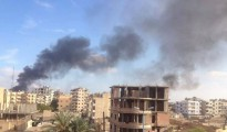 Airstrikes of Syrian army against ISIS stronghold Raqqa