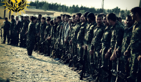 YBS fighters in the Kurdish enclaves of Syria