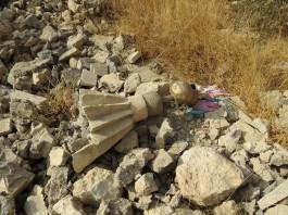 Les ruines d'un temple yézidi à Bashika