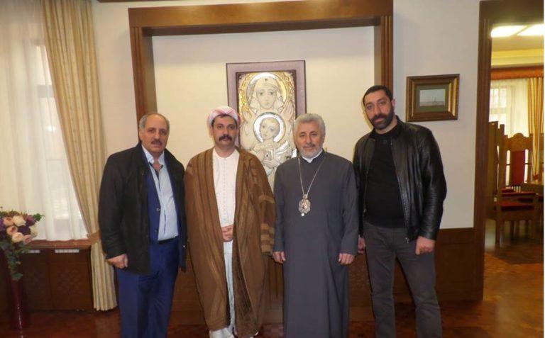 La délégation yézidie et l'Archevêque Ezras