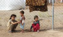 Enfants yézidis réfugiés