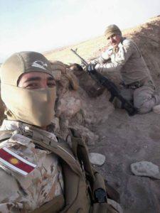 Les soldats du HPE dans la province de Shingal