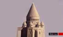 Erster, jedoch verworfener Entwurf des neuen êzîdîschen Tempels in Armenien