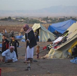 Flüchtlinge aus Shingal im Nord-Irak