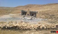 Zerstörte Heiligenstätte in Gabar, Shingal vom 12. Juli 2015