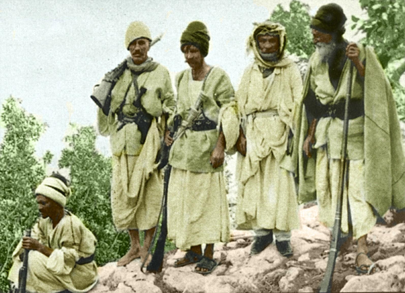 Êzîdîsche Widerstandskämpfer in Shingal, frühes 20. Jahrhundert
