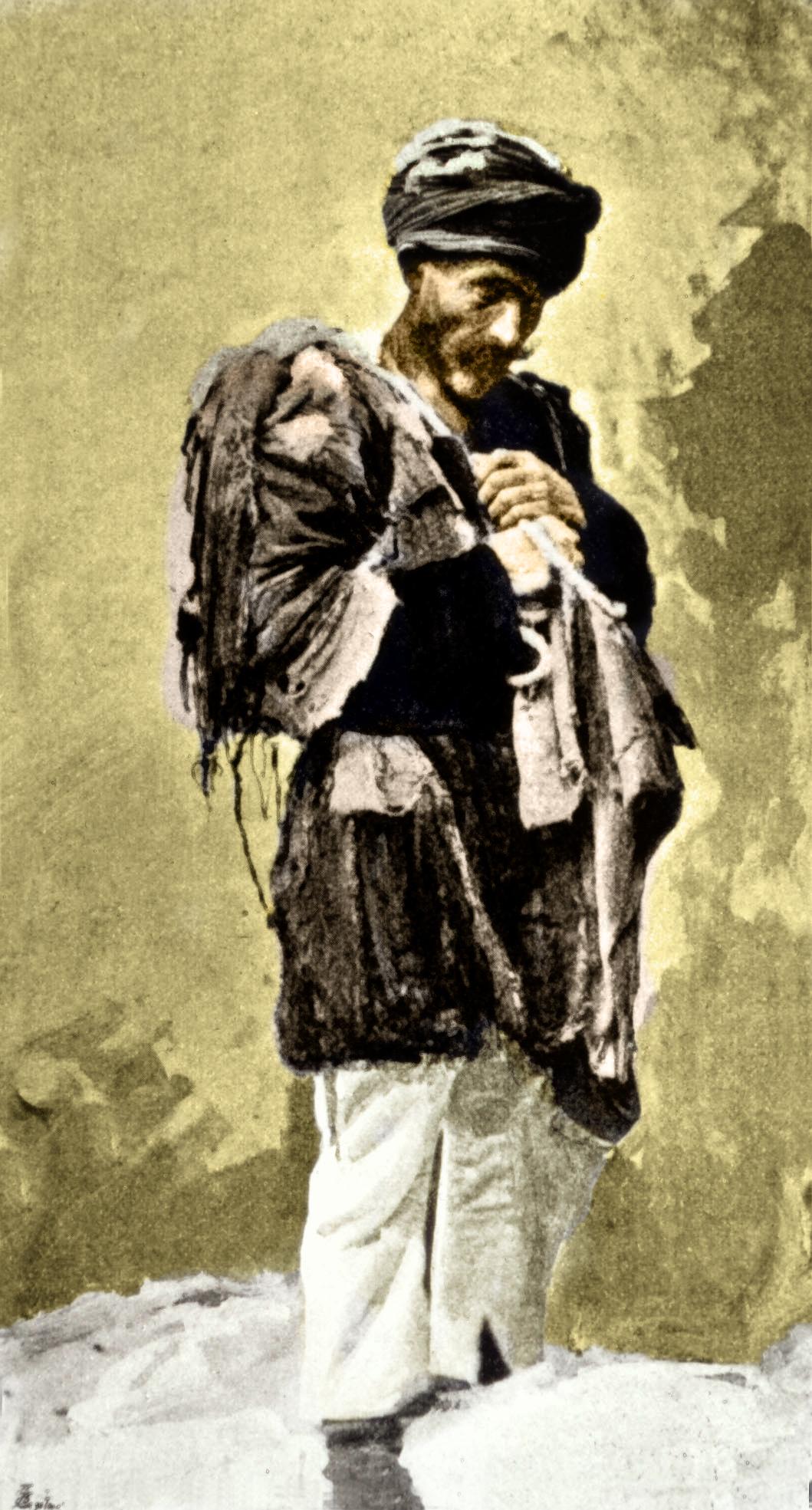 Armer Êzîdî in den Straßen von Tiflis im Jahr 1895 (Mary Anholm)