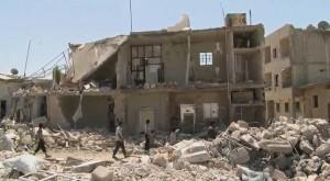 Syrischer Bürgerkrieg: Zerstörtes Haus in Azaz | by VOA's Scott Bobb