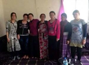 Die sieben befreiten êzîdîschen Frauen und Mädchen [privat]