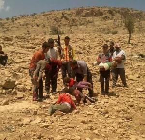 Beisetzung verdurstete Kinder im Shingal-Gebirge | © êzîdîPress