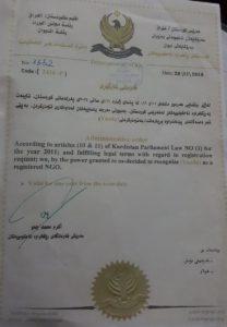Am 28. November verlängerter Lizenzvertrag der NGO Yazda (Yazda)