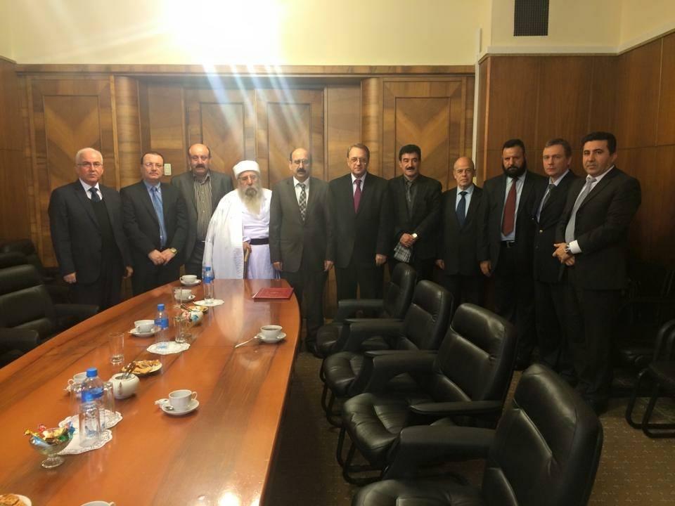 Êzîdîsche Delegation mit dem stellvertretenden russischen Außenminister in Moskau