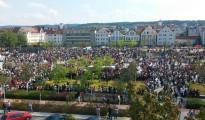 Tausende Êzîden demonstrierten in Bielefeld gegen den IS-Terror (9. August 2014)