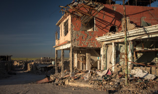 Shingal-Stadt. Rund 85% der Dörfer und Gemeinden in der Region sind zerstört. © Diego Cupolo 2016