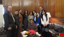 Indische Außenministerin Swaraj mit êzîdîsche Delegation in Dehli