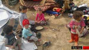 Êzîdîsche Kinder an der Pilgerstätte Sherfedin (vom 23. Okt. 2014 / Fahim Khalaf)