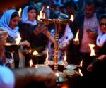 Neujahrszeremonie im êzîdîschen Tempel Lalish am Vorabend des Neujahrs 2017 (Christophe Simon/AFP)
