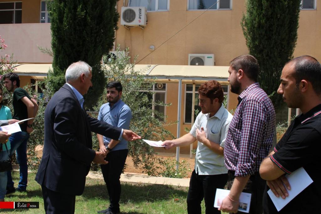 Êzîdîsche Studenten an der Universität von Duhok
