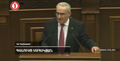 Galust Sahakyan, Parlamentspräsident der armenischen Nationalversammlung (