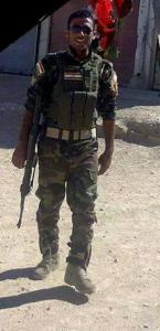 Von flüchtenden Peshmerga getöteter êzîdîscher Peshmerga in Shingal