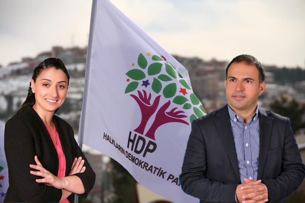 Erste êzîdîsche Abgeordnete im türkischen Parlament: Feleknas Uca (li.) und Ali Atalan