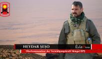 Von kurdischen Sicherheitskräften festgenommen. Oberkommandeur Heydar Shesho
