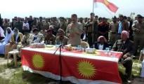 Oberkommandeur Heydar Shesho anlässlich der Eröffnung des neuen HPÊ-Ausbildungslagers