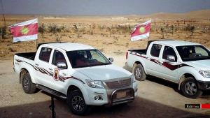 Fahrzeuge der HPŞ in Shingal