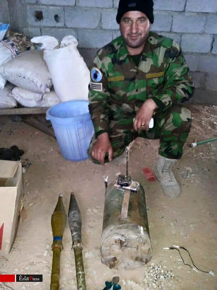 Hadi Heskany, der bei Entschärfungsarbeiten in Shingal ums Leben kam
