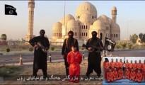Bild aus dem Video der Enthauptung des Peshmerga Soldaten