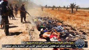 ISIS Terroristen verüben Massaker an irakischen Soldaten