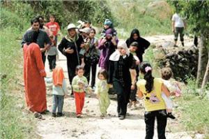 Êzîdîsche Flüchtlinge aus Syrien