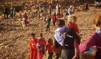 Êzîden aus Shingal auf der Flucht vor der IS-Terrormiliz (Aug. 2014)