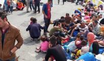 Êzîdîsche Flüchtlinge am Busbahnhof in Istanbul