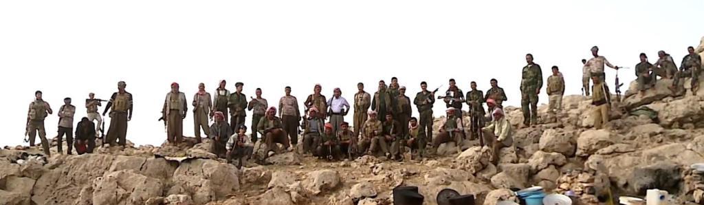 Êzîdîsche Widerstandskämpfer in Shingal