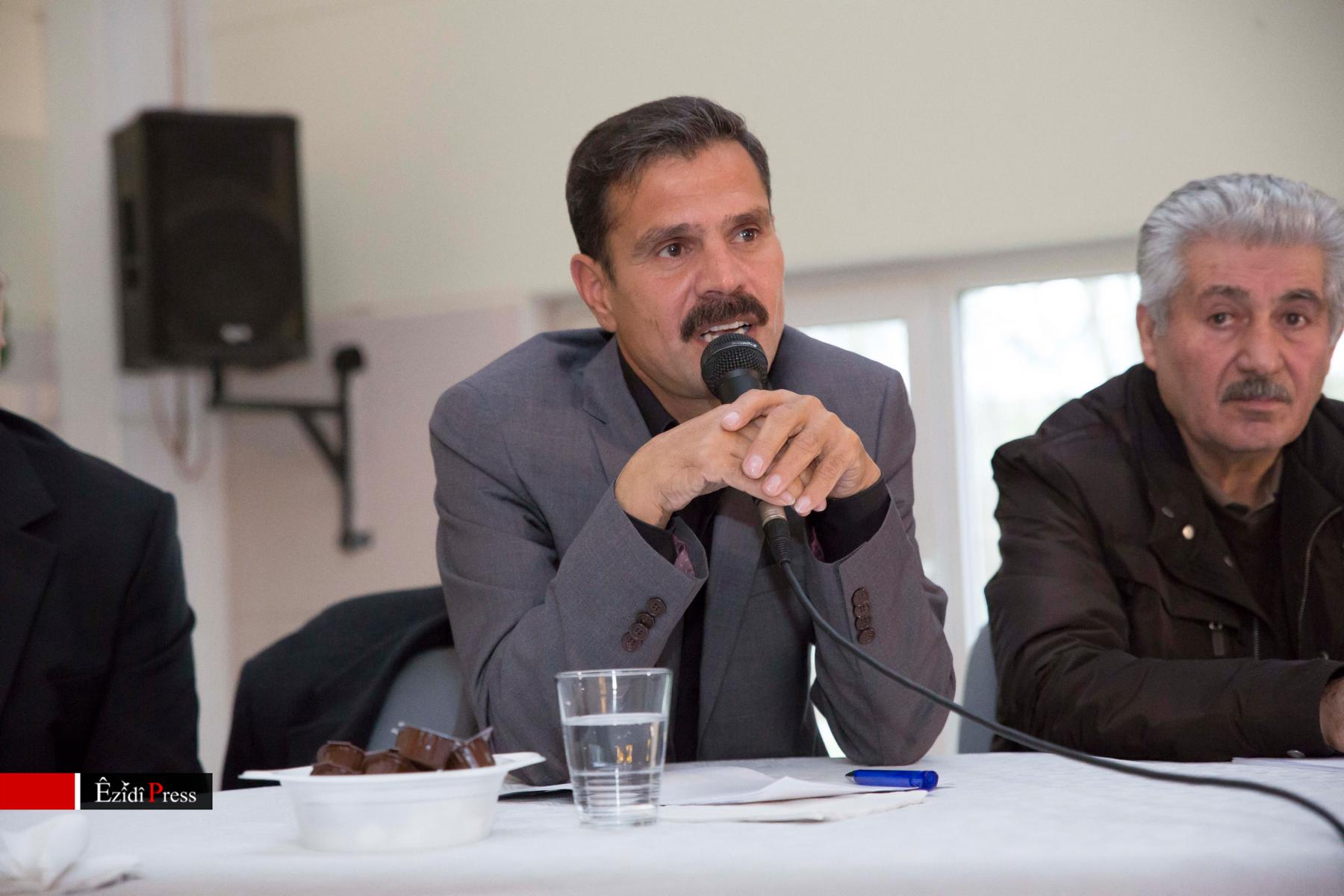 Oberkommandeur Heydar Shesho (li.) und Dr. Eskerê Boyik